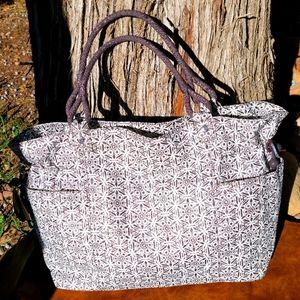 Kipling Geo Floral Print Nylon Tote Bag Size XL